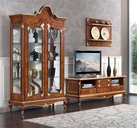 soggiorno stile classico sala soggiorno stile classico dec 242 vetrine porta tv