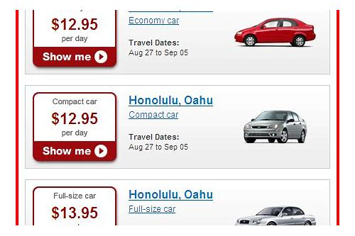 hotwire deals rental cars
