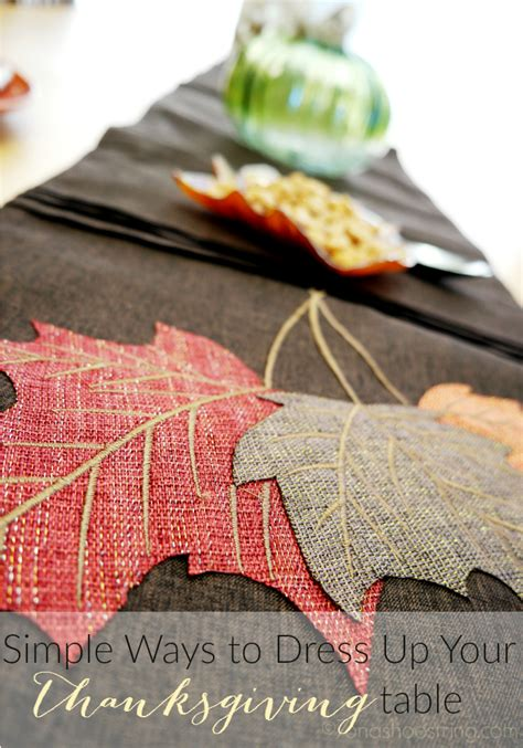 dress up your table with an easy round topper quilting digest simple ways to decorate your thanksgiving table with at