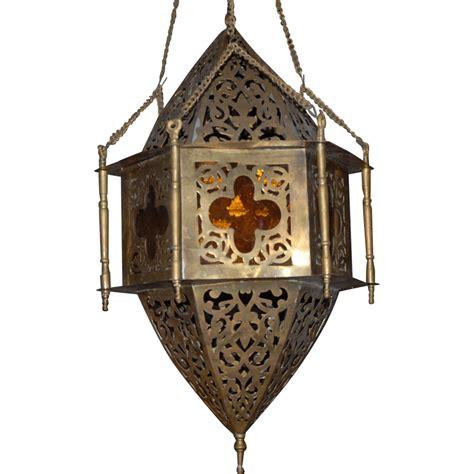sold to lori arabic vintage brass hanging lantern from