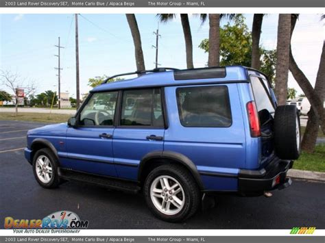 blue land rover discovery 2003 land rover discovery se7 monte carlo blue alpaca