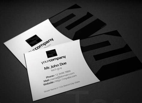 it technician card template 12 free psd business card technology images it