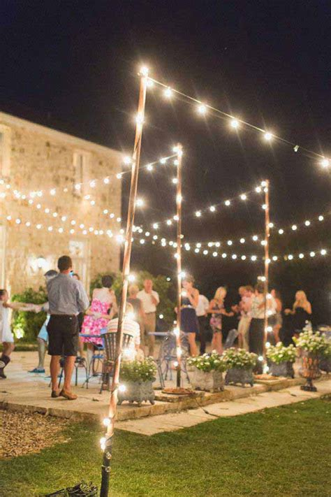 Outdoor String Light Pole 26 Breathtaking Yard And Patio String Lighting Ideas Will Fascinate You Amazing Diy Interior
