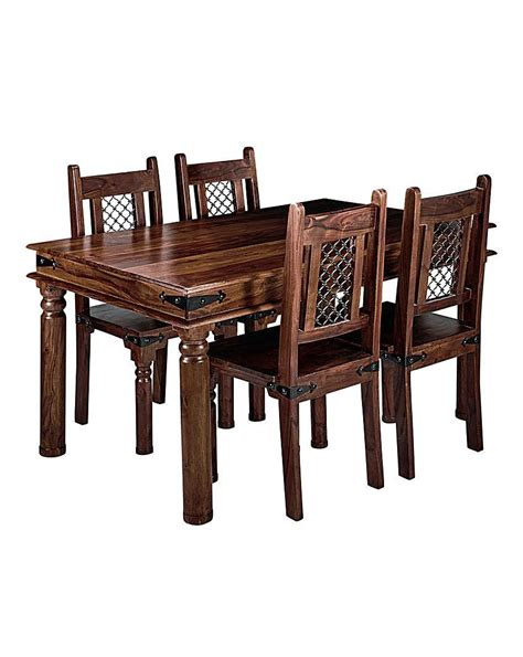 jd williams catalogue jaipur sheesham dining table 4