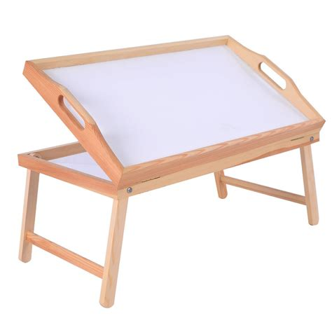 Folding Bed Tray Us Wood Bed Tray Breakfast Laptop Desk Food Serving Hospital Table Folding Legs Ebay