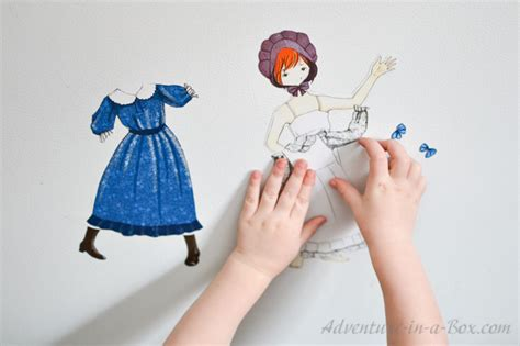 dress up doll house pioneer dress up doll printable adventure in a box