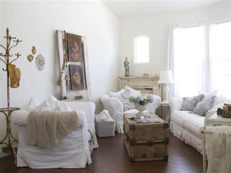 white shabby chic living room furniture 52 ways incorporate shabby chic style into every room in your home
