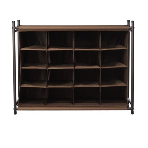 shoe rack with storage shoe storage closet storage organization the home depot