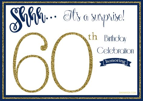 Free Printable 60th Birthday Invitations Free Invitation Templates Drevio 60th Birthday Banner Template