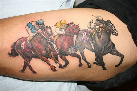 horse racing tattoo designs racing