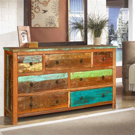 reclaimed wood dresser sierra rustic reclaimed wood 7 drawer dresser