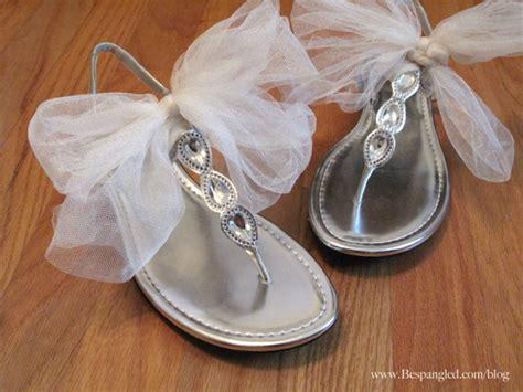 chagne sandals wedding bespangled jewelry easy diy bridal shoe hack 3 ways