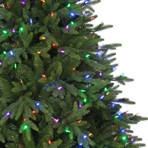 home accents holiday 7 5 ft pre lit led monterey fir pe