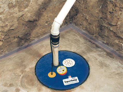 how to install sump in basement the supersump basement sump system