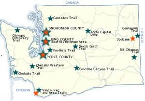 Washington Mountains Map by Wsdot Maps Of Local Bicycle Paths And Accessible Trails