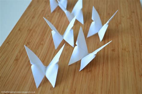 Origami Thing - how to make origami butterflies the things she makes
