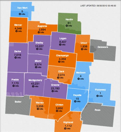dayton power and light outage map energy power outages info4disasters