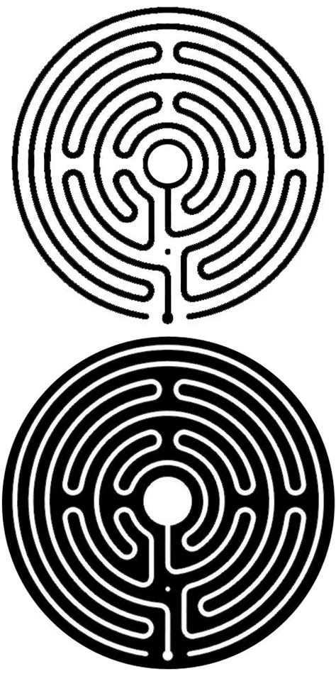 Labyrinth Outline by Tweaked The Labyrinth Design A Bit To Show The Path Shaded Vs The Outline Of The Path Shaded So