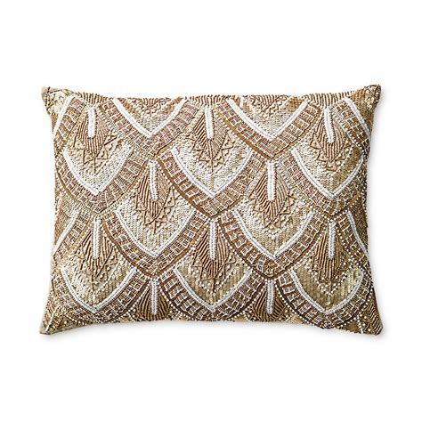 gold beaded pillow avalon gold beaded pillow gump s