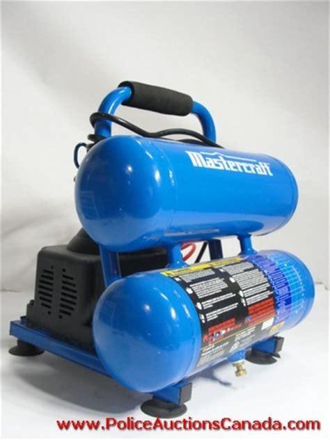 auctions canada mastercraft 2 gallon air compressor 128834a