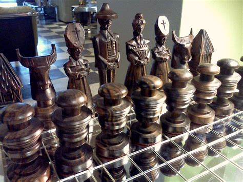 cool chess set beautiful carved chess set in rosewood and teak cool stuff houston mid century modern