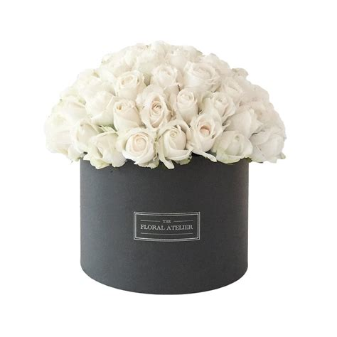 Flower Box 3 white flower bloom box the floral atelier the floral
