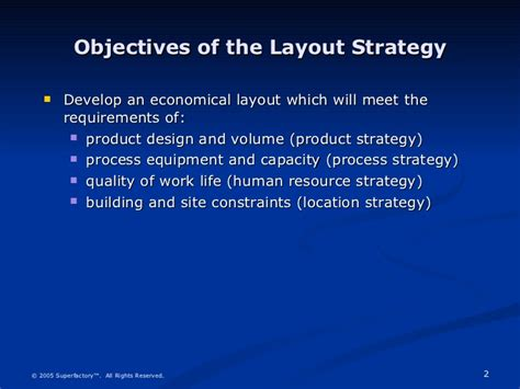 objective of layout strategy is to office layout sle
