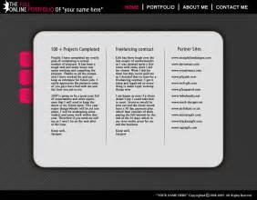 free template portfolio free portfolio template by an1ken on deviantart