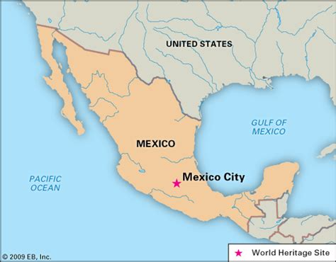 Mexico City On A Map by Mexiko Karte St 228 Dte