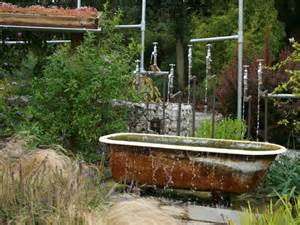 Unusual Bathtubs Gardens With Cool Water Features Terrys Fabrics S Blog