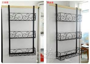 2017 organizing frame wrought iron wall hanging kitchen refrigerator side wall mounts receive