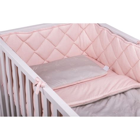 Thick Crib Bumper by Crib Bumper 60x120 Pink With Gray Dots