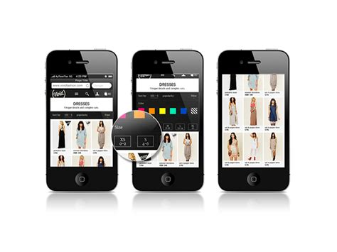 mobile ecommerce template images