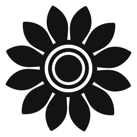 grey sunflower head logo transparent png svg vector