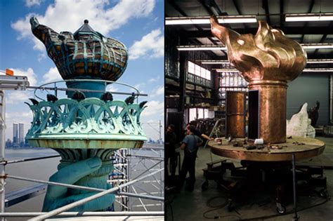 statue of liberty arm with torch statue of liberty pictures rare views inside and out
