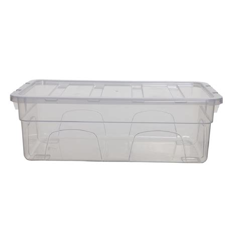 shoe box storage containers buy 4 5lt 33cm spacemaster mini plastic shoe box with lid