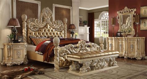victorian bedroom set homey design victorian palace hd 7266 dresser mirror