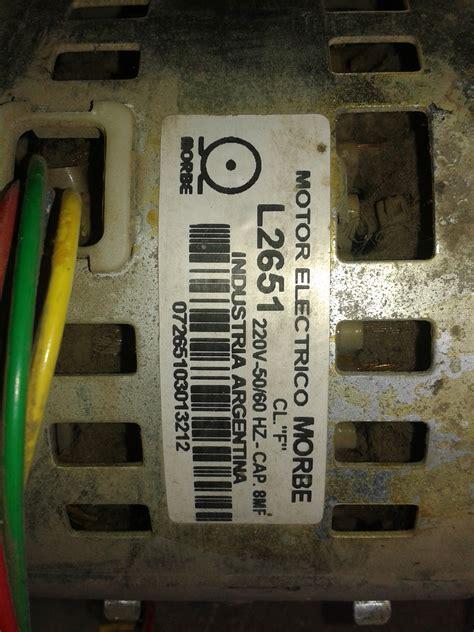 capacitor motor lavarropas solucionado c 243 mo identificar 4 cables de motor de lavarropas yoreparo