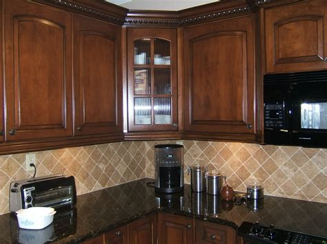 stained wood kitchen cabinets black stained wooden island set design brown mosaic tile