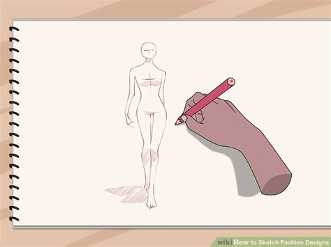 design clothes wikihow how to sketch fashion designs 5 steps with pictures