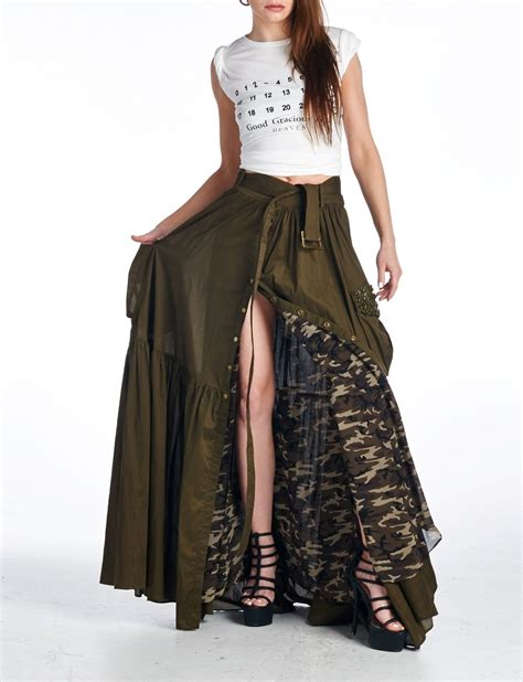 camo maxi skirt 183 stylo clothing and shoes 183 store
