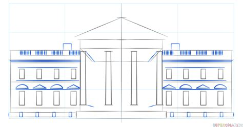 how to draw the white house how to draw the white house step by step drawing tutorials