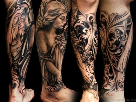 angel tattoo 60 loveable tattoos for leg