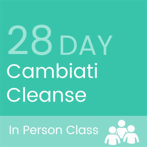 28 Day Detox Plan by 28 Day Cambiaticleanse 5 In Person Classes Cambiati