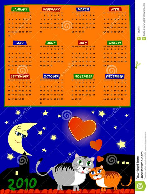 Next Years Calendar Calendar Of Next Year Stock Image Image 11413921