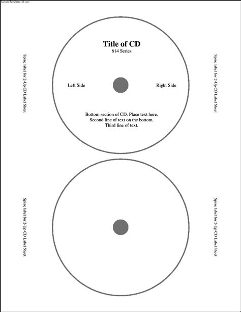 cd label templates free sle templates