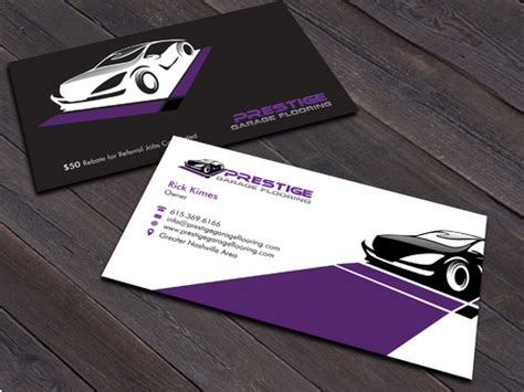 garage cards templates business cards and stationary for garage flooring company