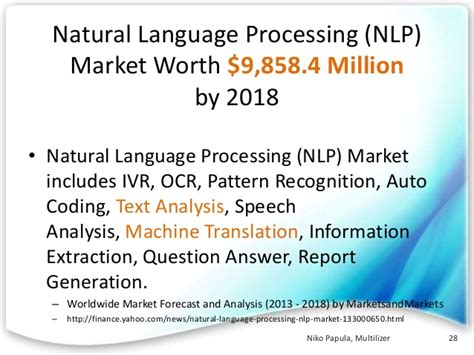 pattern recognition natural language processing translation technologies business in the future