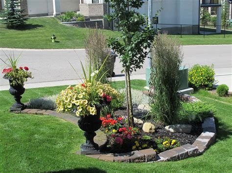 front yard with stones flowers garden rejuvenation
