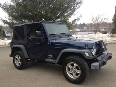 2004 Jeep Wrangler Soft Top Sell Used 2004 Jeep Wrangler 4x4 Traiol Soft Top